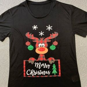 NEW Merry Christmas Moose Shirt